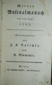 Wiener Musenalmanach auf das Jahr 1788