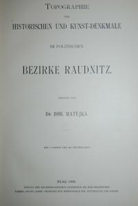 Böhmen - Raudnitz – Kunstdenkmale – Prag 1900 - Illustriert