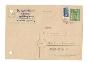 Grimm Hans - Maschinenschriftliche Postkarte mit eigenhändiger Unterschrift