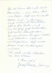Bauer Joseph Martin - Eigenhändiges Schreiben mit Unterschrift - 1963