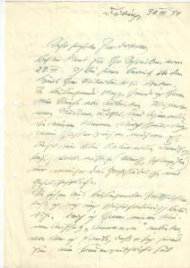 Brandenburg-Polster Dora - Eigenh. Brief mit Unterschrift - 1950