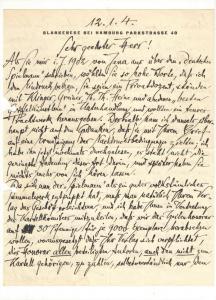 Dehmel Richard - Eigenhäniger Brief mit Unterschrift - 1904