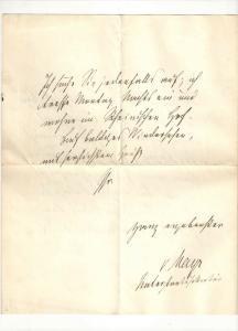Von Mayr Georg - Eigenhändiger Brief mit Unterschrift - 1887