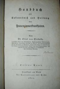 Siebold - Handbuch Frauenzimmerkrankheiten - Band 1 - 1811