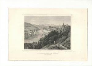 Steyr - Gesamtansicht. - Stahlstich um 1871
