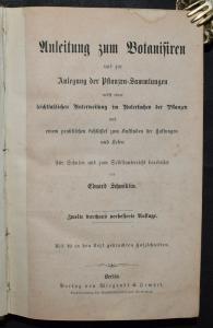 Anleitung zum Botanisiren von Eduard Schmidlin - 1857 - Botanik