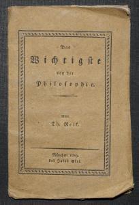 Das Wichtigste von der Philosophie von Theophilus Nelk - 1829 - ERSTE AUSGABE