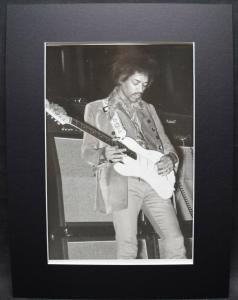 JIMI HENDRIX - ORIGINAL-VINTAGE-PHOTO - TEATRO BRANCACCIO 1968 - MIMMO CHIANURA