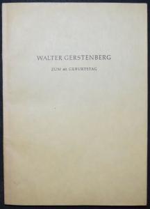 Festschrift Walter Gerstenberg. Zum 60. Geburtstag - G. v. Dadelsen - Mozart
