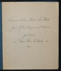 HANDSCHRIFT - Diktator und Reiteroberst von Friedrich Back - 1876 -Manuskript