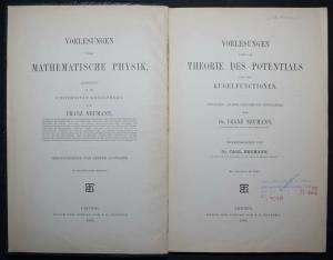 Vorlesungen über die Theorie des Potentials - Franz Neumann - 1887