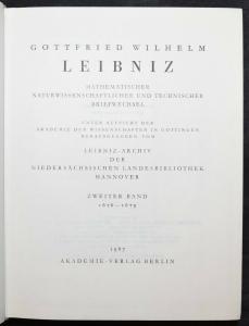 Leibniz - Mathematischer, naturwissenschaftlicher und technischer Briefwechsel
