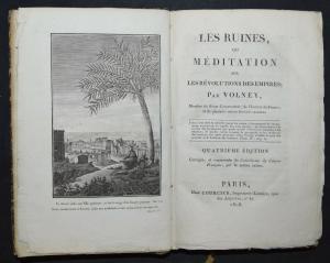 Les ruines ou méditation sur les révolutions des empires - C. Volney - 1808