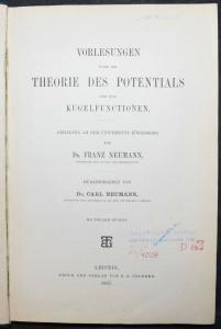 Trigonometrie - über die Theorie des Potentials und der Kugelfunktionen - 1987