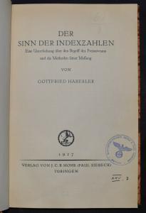 Der Sinn der Indexzahlen - 1927 - G. Haberler  - Finanz-Mathematik