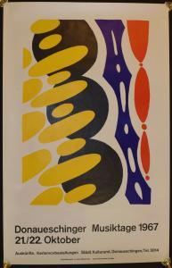 "E. W. Nay - Plakat zu ""Donaueschinger Musiktage 1967 - Original-Farblithographie"