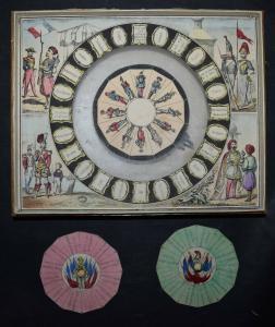 MECHANISCHES REISE-SPIEL UM 1860 SEHR SELTEN ! JEU GÉOGRAPHIQUE - GAMES - GAME