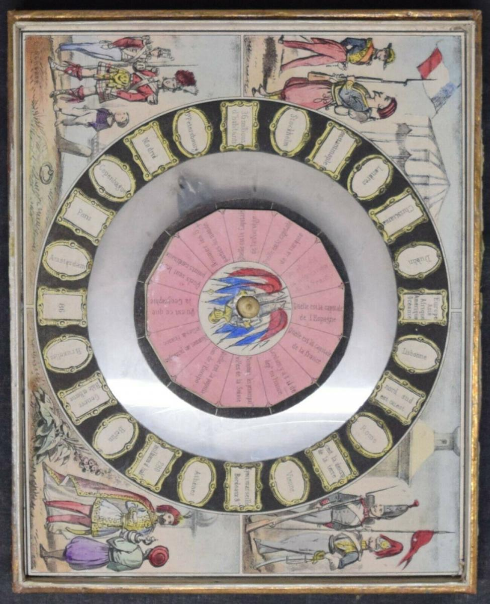MECHANISCHES REISE-SPIEL UM 1860 SEHR SELTEN ! JEU GÉOGRAPHIQUE - GAMES - GAME 3