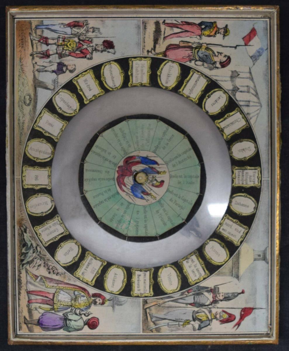 MECHANISCHES REISE-SPIEL UM 1860 SEHR SELTEN ! JEU GÉOGRAPHIQUE - GAMES - GAME 5