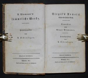 Virgil's Aeneis 1827 - Altphilologie - Vergilius Maro, P., - Vergil
