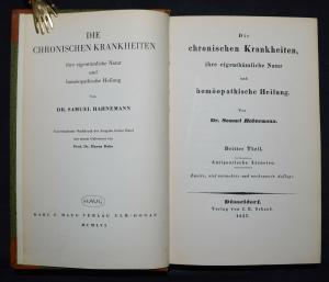 Hahnemann - Die chronischen Krankheiten  - Band 3 - Homöopathie