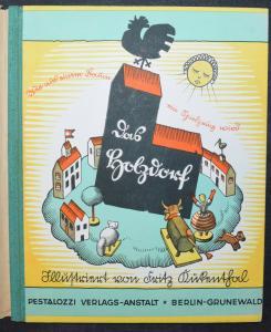 GERDA THELEN - DAS HOLZDORF - SELTENE EINZIGE AUSGABE 1930 - HOLZSPIELZEUG