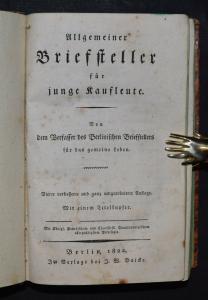 Allgemeiner Briefsteller für junge Kaufleute von Johann H. Bolte - 1822