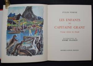 JULES VERNE - LES ENFANTS DU CAPITAINE GRAND - 1964 - 1 AQUARELL VON A. PLANSON