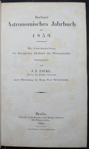 Berliner astronomisches Jahrbuch für 1859 - Astronomie - Astronomy  - Mathematik
