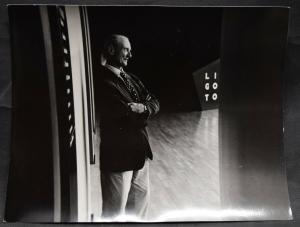VINTAGE PHOTO - ROY LICHTENSTEIN - ROM - 1985
