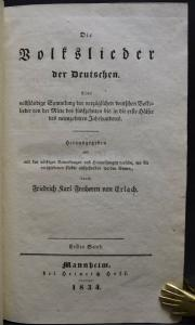 Erlach, Die Volkslieder der Deutschen - Erste und einzige Ausgabe