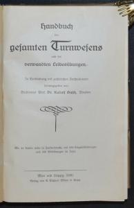 TURNEN HANDBUCH DES GESAMTEN TURNWESEN - 1920 - LEICHTATHLETIK -