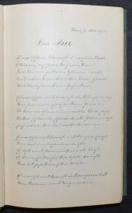 GEDICHTE - DEUTSCHE HANDSCHRIFT AUF PAPIER - 1905 - APHORISMEN - FABELN