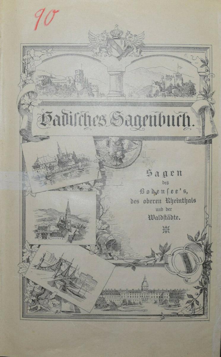 BADER U.A., BADISCHES SAGENBUCH BADENIA SAGEN 1898-1899 0
