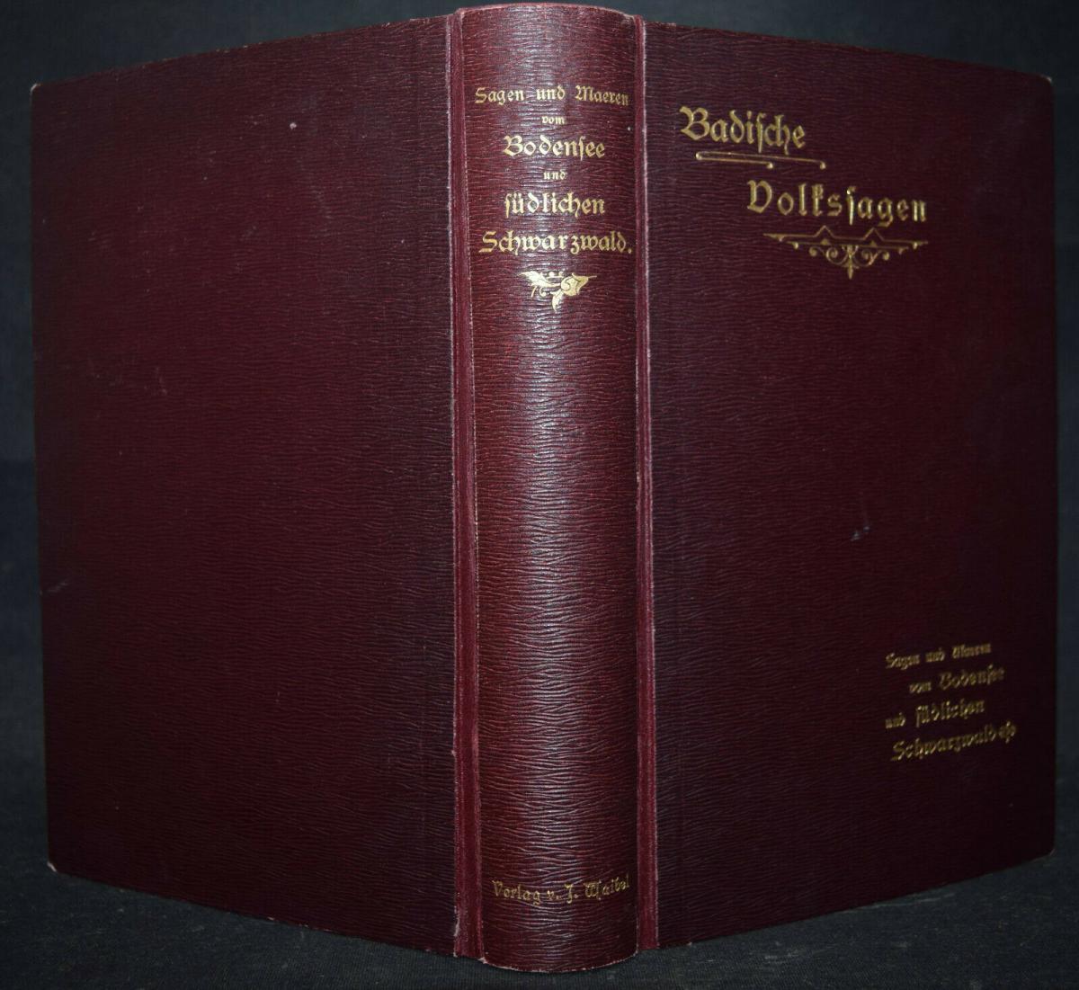 BADER U.A., BADISCHES SAGENBUCH BADENIA SAGEN 1898-1899 6
