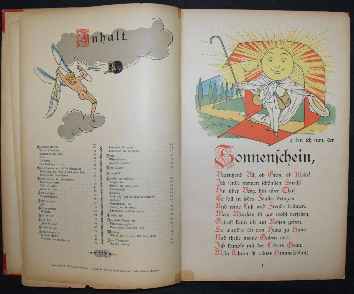 LOTHAR MEGGENDORFER - DER SONNENSCHEIN - UM 1886 - EINZIGE AUSGABE - SELTEN 3