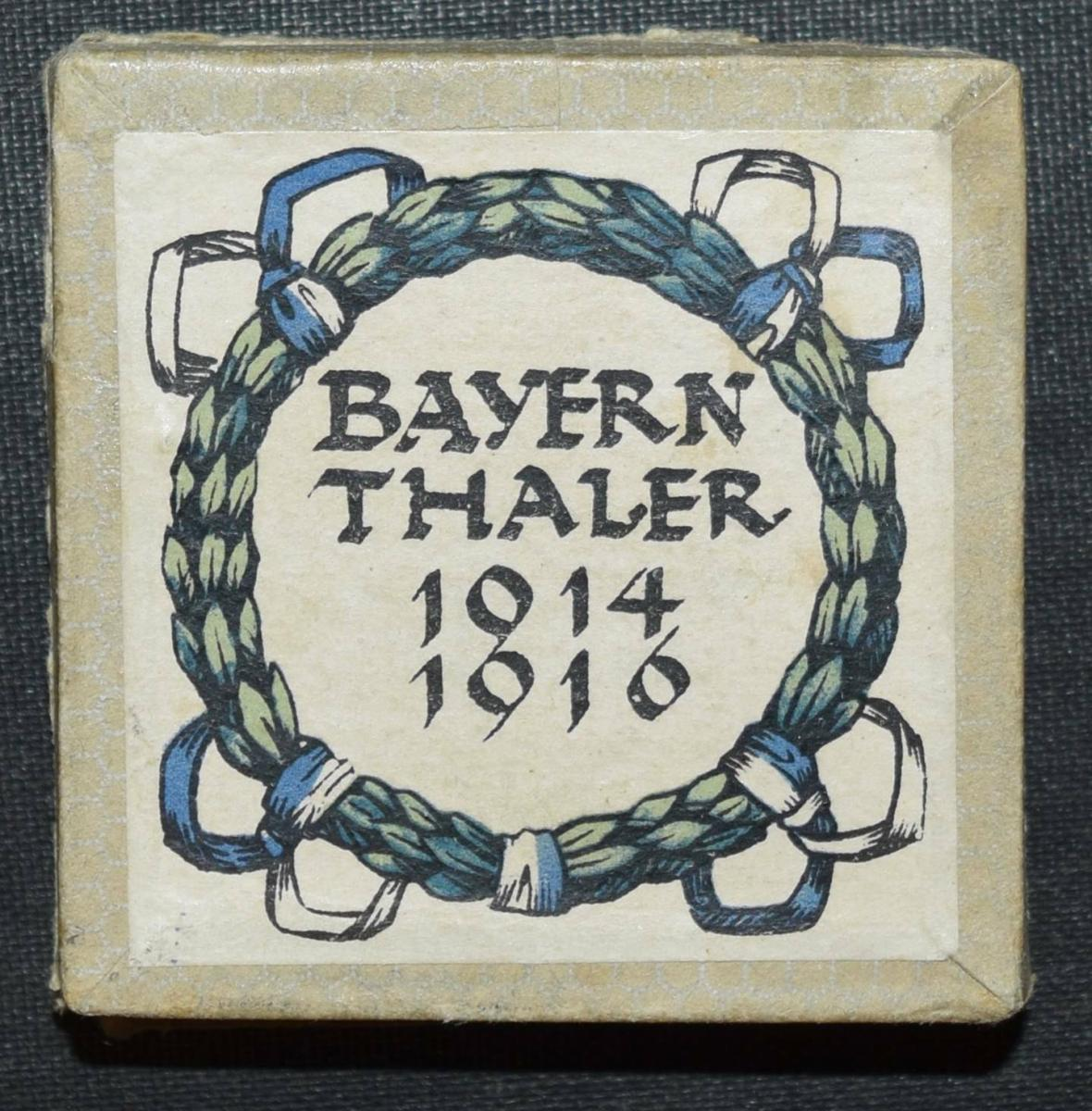SELTENER SCHRAUBTALER – BAYERN-THALER 1914-1916 - MEDAILLE - BAVARICA 0