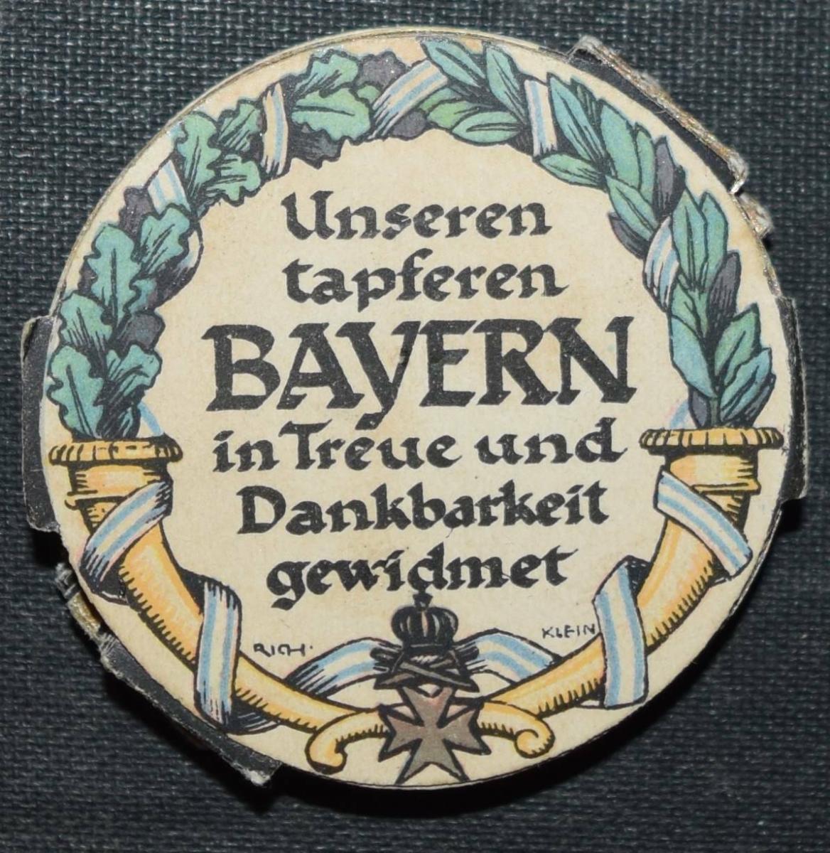 SELTENER SCHRAUBTALER – BAYERN-THALER 1914-1916 - MEDAILLE - BAVARICA 2