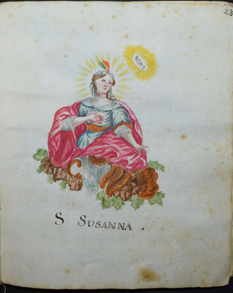 22 ORIGINAL-AQUARELLE - SEHR SCHÖNES ZEICHENBUCH EINES PÄDAGOGIK-STUDENTEN 1770 8