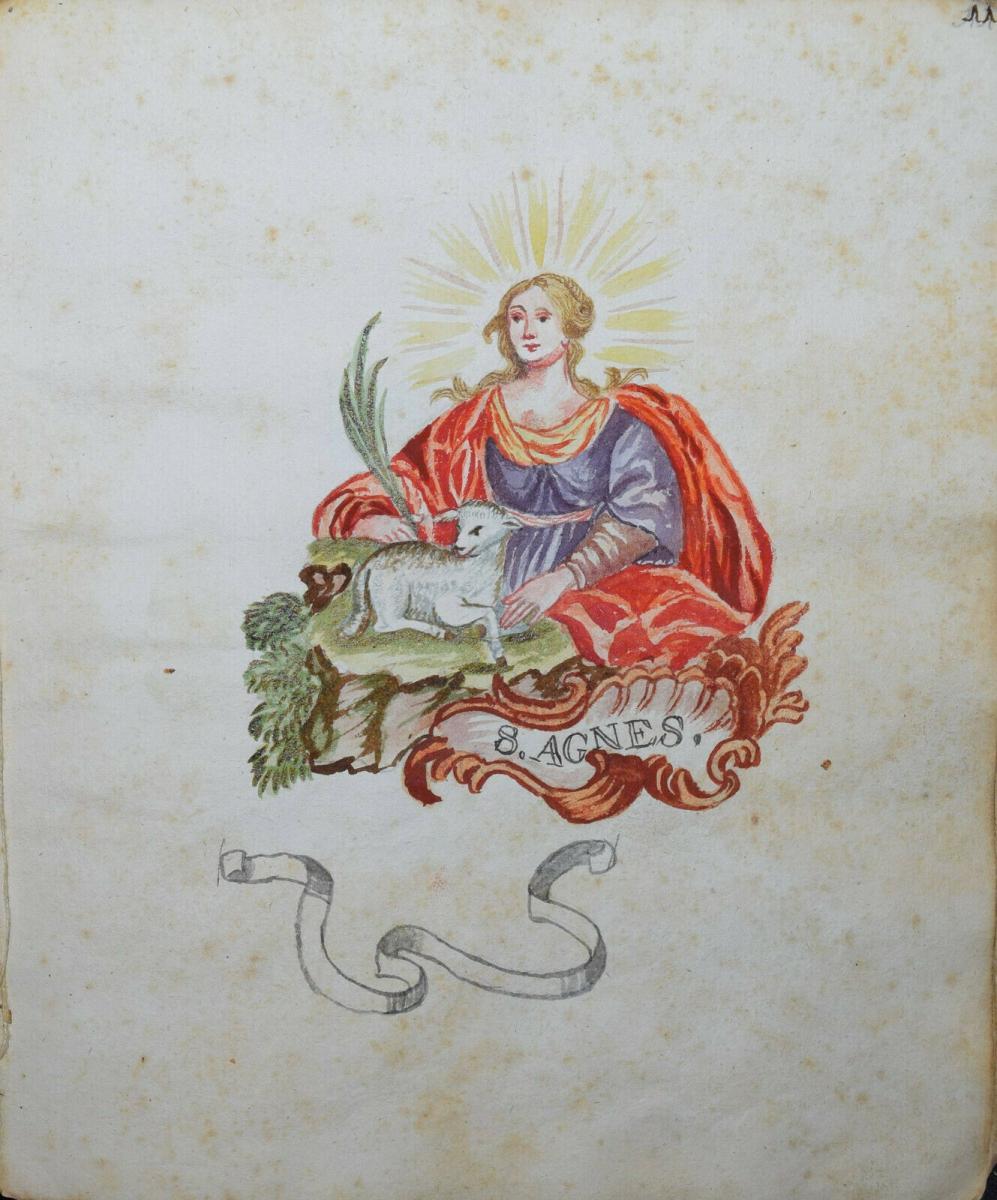 22 ORIGINAL-AQUARELLE - SEHR SCHÖNES ZEICHENBUCH EINES PÄDAGOGIK-STUDENTEN 1770 9
