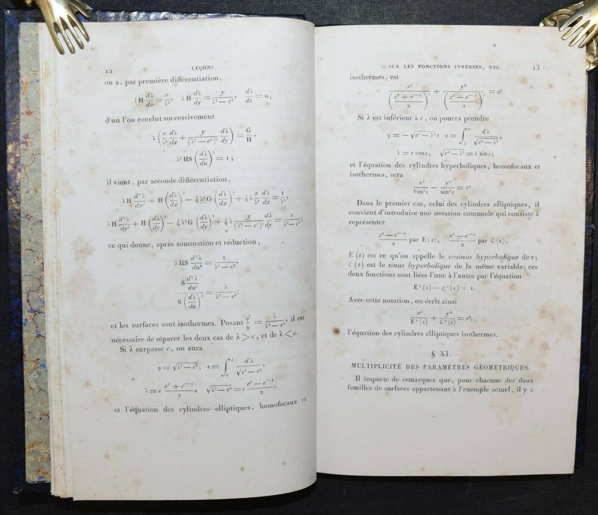 LEÇONS SUR LES FONCTIONS INVERSES DES TRANSCENDANTES - GABRIEL LAMÉ - 1857 3