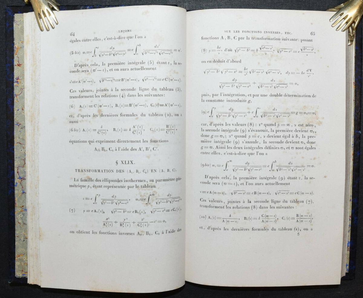 LEÇONS SUR LES FONCTIONS INVERSES DES TRANSCENDANTES - GABRIEL LAMÉ - 1857 4