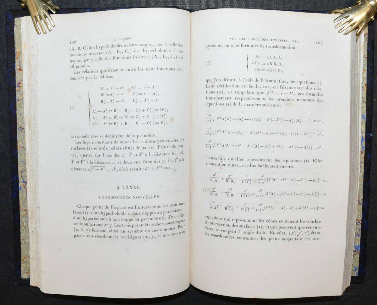 LEÇONS SUR LES FONCTIONS INVERSES DES TRANSCENDANTES - GABRIEL LAMÉ - 1857 5