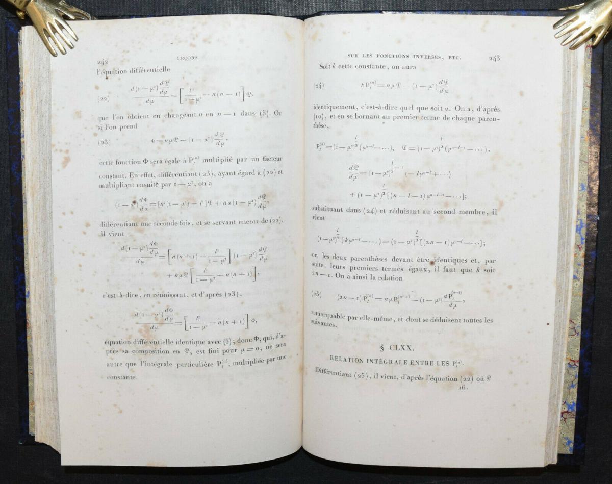LEÇONS SUR LES FONCTIONS INVERSES DES TRANSCENDANTES - GABRIEL LAMÉ - 1857 6