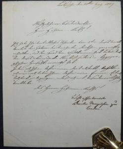 AMALIE MARKGRÄFIN VON BADEN, EIGENHÄNDIGER BRIEF - KARLSRUHE 1807