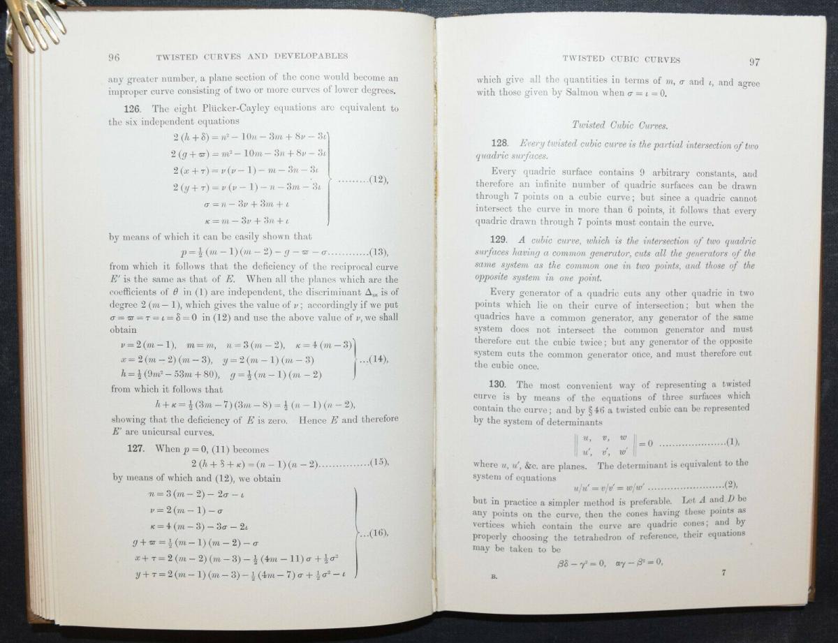A TREATISE ON THE GEOMETRY OF SURFACES - BASSET - ERSTAUSGABE 1910 - GEOMETRIE 3