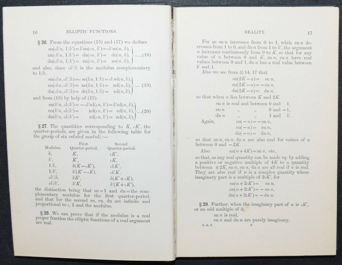 THE ELEMENTARY PROPERTIES OF THE ELLIPTIC FUNCTIONS - ALFRED DIXON - 1894 2