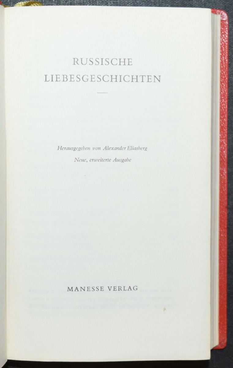 Russische Liebesnovellen - 1961 - Alexander Eliasberg 1