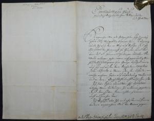 KARL FRIEDRICH V. BADEN, EIGENHÄNDIGER BRIEF AN GEORG WILHELM V. HESSEN 1757