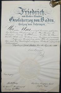 Friedrich I., Großherzog von Baden, Eigenhändige Unterschrift 1899